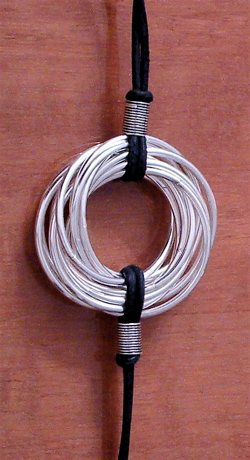 Skein Bundle 14 Rings Sterling Silver 38 mm 20 gram ID # 4183 - Click Image to Close