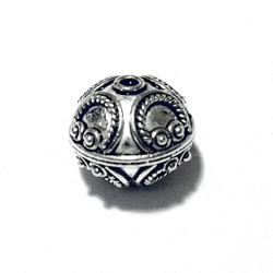 Sterling Silver Bead 13 mm 3 gram ID # 6486 - Click Image to Close