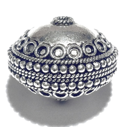 Sterling Silver Bead 21 mm 8 gram ID # 6508 - Click Image to Close