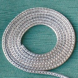 Turkish thick foxtail silver chain for anklet 26 cm ID # 6829 - Click Image to Close