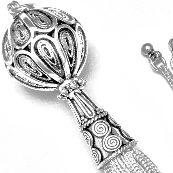 Turkish Sterling Silver Tassel 12 cm 26 gram ID # 6930 - Click Image to Close